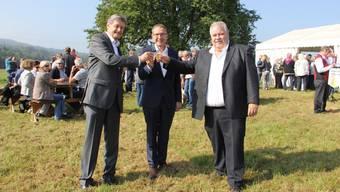 Fusionsapéro in Lupfig-Scherz.