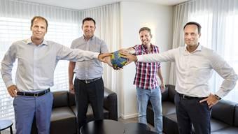 Tom Ryhiner, Sven Lüdin, Olivier Herrmann und Stefan Truffer (v.l.n.r.) wollen den RTV zu einem Spitzenklub formen.