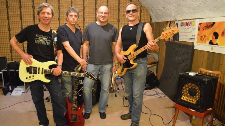Rockgreise: Paul Fischer, Peter Meyer, Roger Rey, Hanspeter Huber (von links).