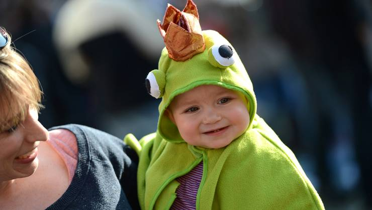 Zuckersüsse Froschkönigin: Die kleine Anna ist elf Monate alt und kommt aus Bubendorf.