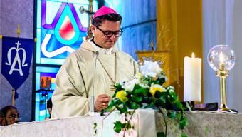 Bischof Gmür leitet das Bistum Basel. Derzeit wird auch daran gearbeitet, die Pfarreien in Pastoralräume zusammenzufassen. (Archiv)