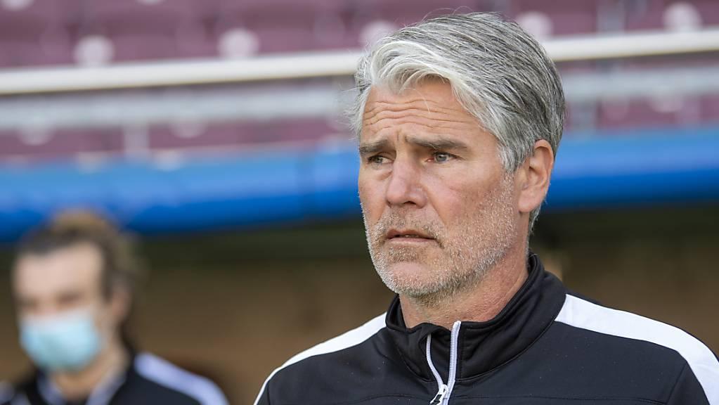 Sions Trainer Marco Walker hofft auf eine gute Woche für die Vorbereitung auf den Match gegen Lausanne-Sport