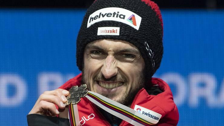 Strahlen mit der Bronzemedaille: Killian Peier erhielt in Seefeld seinen verdienten Preis