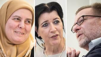 Belkis Osman-Besler ist Vize-Präsidentin der Vereinigung Islamischer Organisationen Zürich (VIOZ). – Rifa'at Lenzin ist freischaffende Islamwissenschafterin und Publizistin. – Markus Notter ist Präsident der Gesellschaft für Minderheiten in der Schweiz und des Europainstituts in Zürich.
