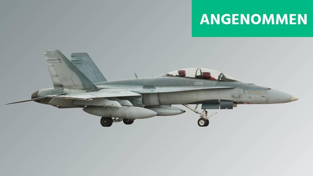 Stimmvolk sagt hauchdünn Ja zum Kauf neuer Kampfjets