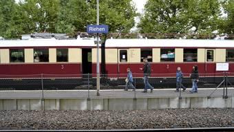 Zum 150-Jahr-Jubiläum der Wiesentalbahn und des Riehener Bahnhofs lud die alte Reichsbahn auf eine Reise in die Vergangenheit