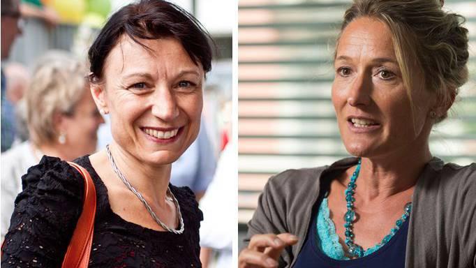 Yvonne Feri und Susanne Hochuli.