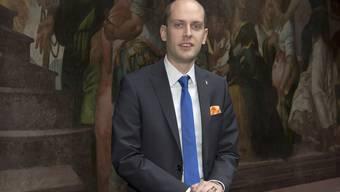 Joël Thüring (SVP) wurde am Mittwoch zum Statthalter des Grossratspräsidiums in Basel gewählt.