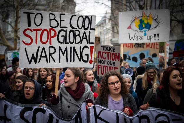 Eine Klimademo im Februar 2019 in St. Gallen.