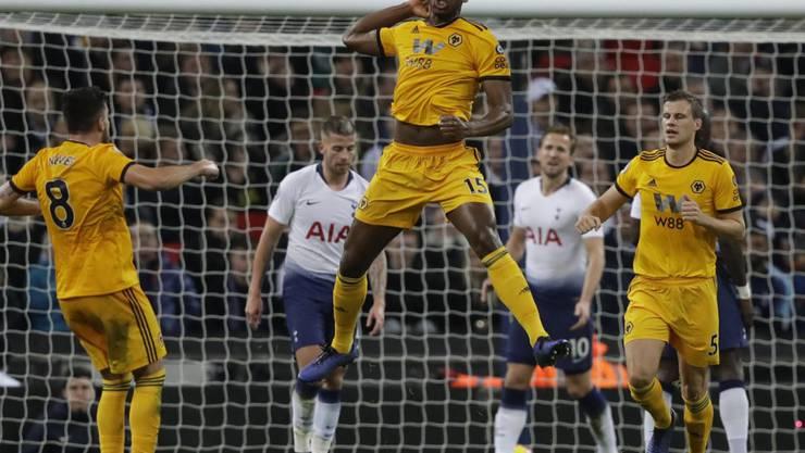 Wolverhamptons Willy Boly leitete mit seinem Kopfballtreffer zum 1:1 den Umschwung im Wembley ein