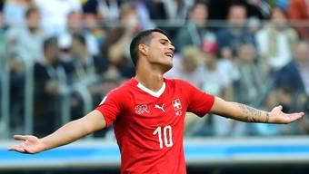WM 2018: Granit Xhaka im Spiel gegen Schweden