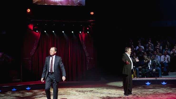 Giacobbo/Müller beim Zirkus Knie