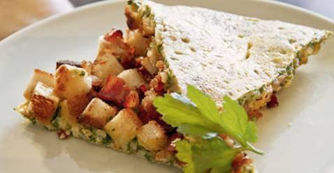 Ferien vorbei? Dann passt diese Tortilla gleich aus zwei Gründen perfekt in den Menüplan.