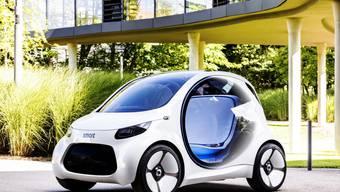 Daimler bringt Smart in Joint Venture mit Geely ein. (Bild: Studie smart vision EQ fortwo von 2017, Archiv)