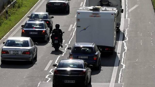Die Motorrad-Initiative forderte mehr Freiheiten für Motorrad- und Rollerfahrer (Archiv)