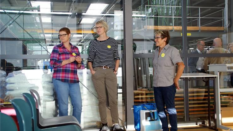 Das Oberkulmer Erzähltal-Team mit Brigitte Gautschi, Mariann Spycher und Käthy Steiner (von links)