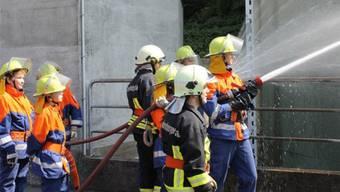 Die Jugendfeuerwehr Schenkenbergertal im Einsatz. ZVG