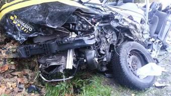 Das zerquetschte Auto vom Horror-Unfall in Endingen