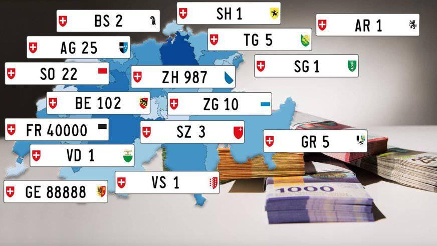 So viel geben Schweizer für spezielle Autonummern aus