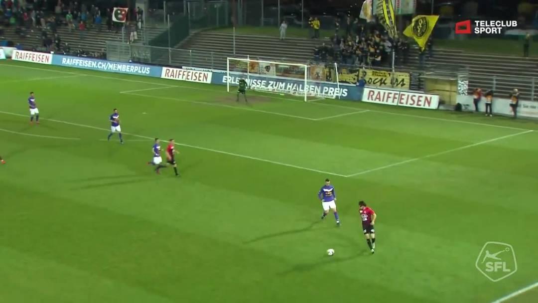85. Minute: Der FCA spielt in der Überzhal, nach einem schönen Absatztrick von Markus Neumayr scheitert Stefan Maierhofer an Zbinden.