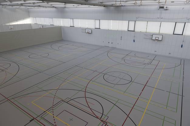 """Innenansicht der neuen Sportstätte im """"Margeläcker"""""""