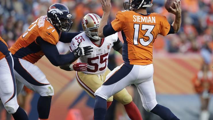Denvers neuer Quarterback Trevor Siemian zeigte als Nachfolger von Peyton Manning ein solides Debüt