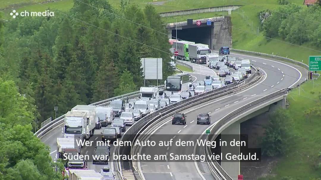 Pfingststau vor dem Gotthard: 3 Stunden 20 Minuten Zeitverlust