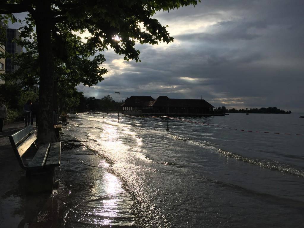 Das Hochwasser in Rorschach