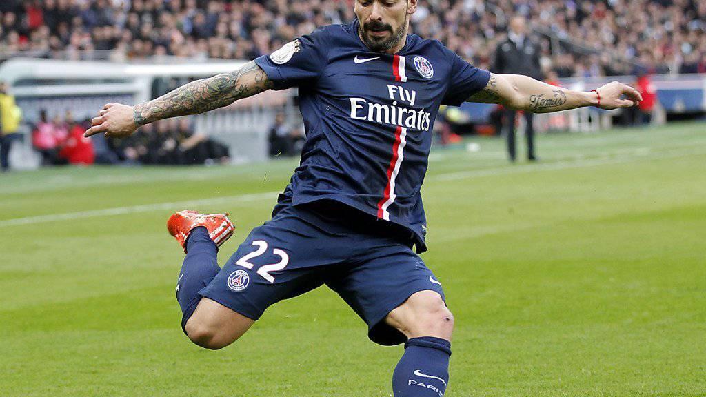 Spielte während dreieinhalb Jahre für Paris St. Germain und wechselt nun  nach China: Ezequiel Lavezzi