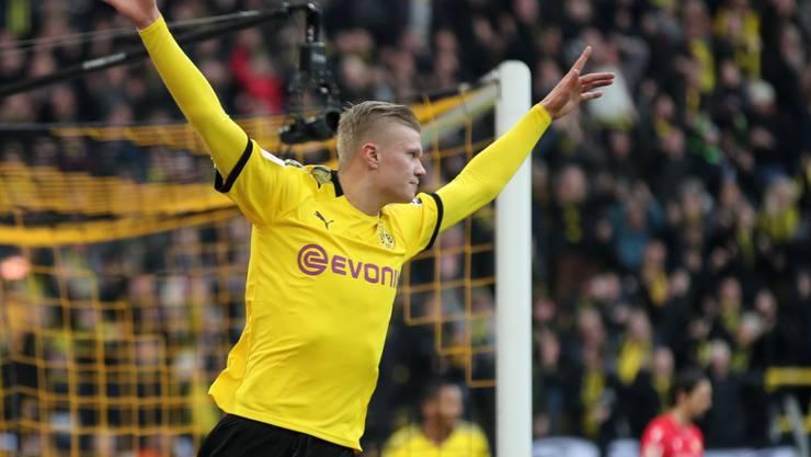 Erling Haaland setzte seine Torserie für Dortmund fort