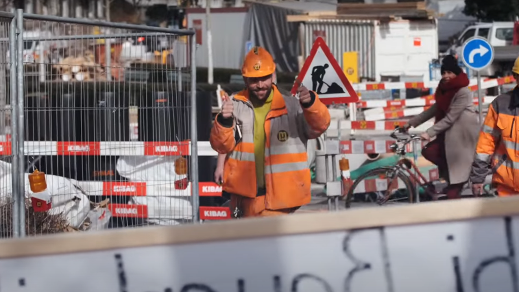 Die Bauarbeiter wurden im Raum Bern überrascht.