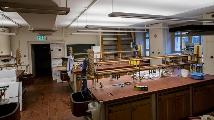 Die Labors im Institut für Anorganische Chemie wurden seit 1910 nie grundlegend renoviert.