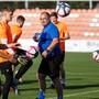 Nebst den Testspielen setzte Solothurns Trainer Jürg Widmer in der Vorbereitung insgesamt 16 Trainingseinheiten an. Bild: Hanspeter Bärtschi (Solothurn, 4. Juli 2019)