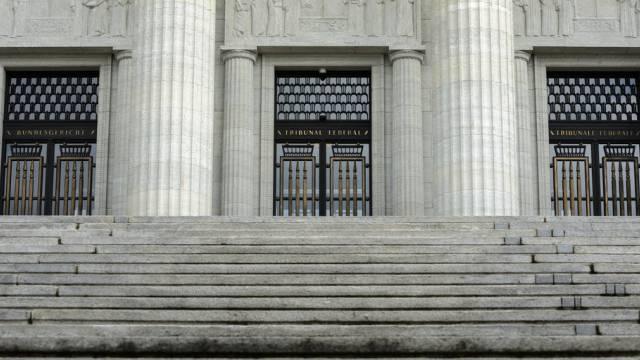 Der Eingang des Bundesgerichts in Lausanne (Archivbild)