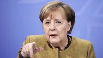 Bundeskanzlerin Angela Merkel nimmt an der digitalen «Davos Agenda» teil.
