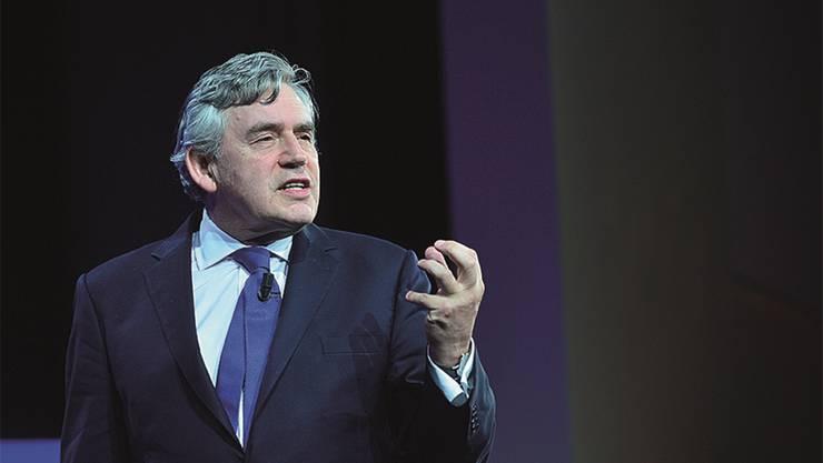 Besuchte gestern das SEF: Grossbritanniens Ex-Premier Gordon Brown.ho