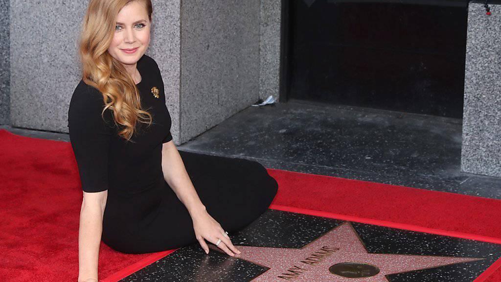 US-Schauspielerin Amy Adams hat neu einen Stern auf dem Walk of Fame in Hollywood.