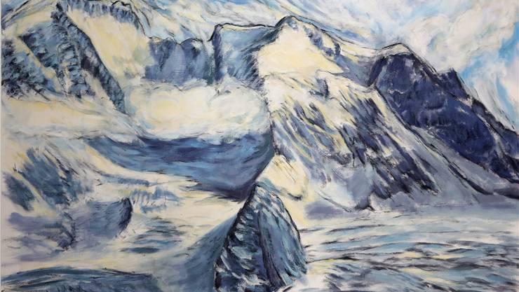 «Alpenmassiv» vom Neuendörfer Künstler Martin Heim