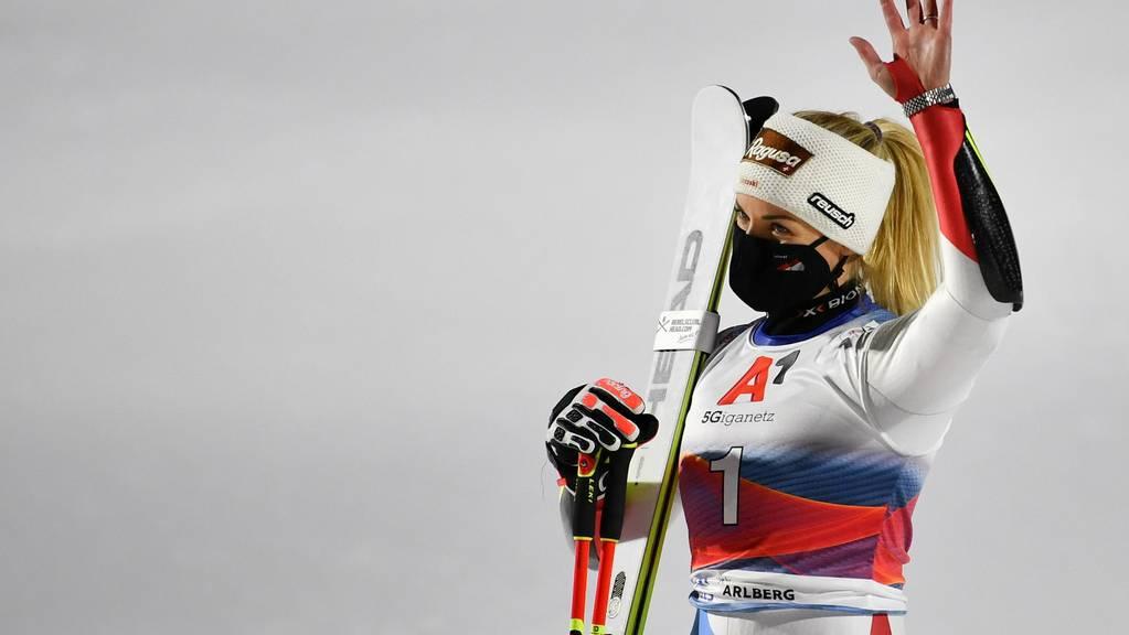 Lara Gut-Behrami ging als Favoritin ins Rennen, muss sich aber mit dem dritten Platz begnügen.