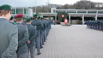 2018 wurden 1687 Aargauer Stellungspflichtige zur Rekrutierung aufgeboten.