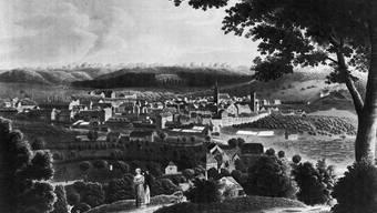 Der Blick über die Stadt anno 1812. Keine Zeit hat sie mehr geprägt, als die Jahre um 1800.