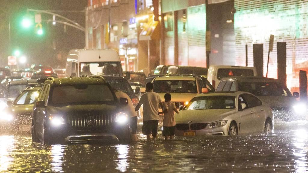 New York versinkt im Wasser