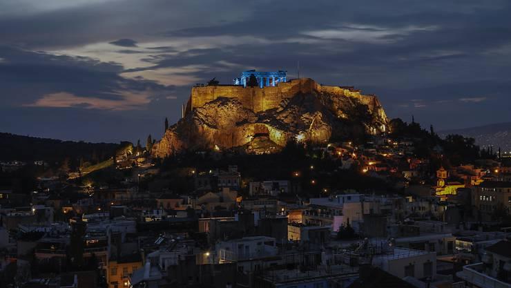 Die amerikanische Ratingagentur Fitch findet, dass sich die Finanzlage von Griechenland gebessert hat. (Archivbild Athen)