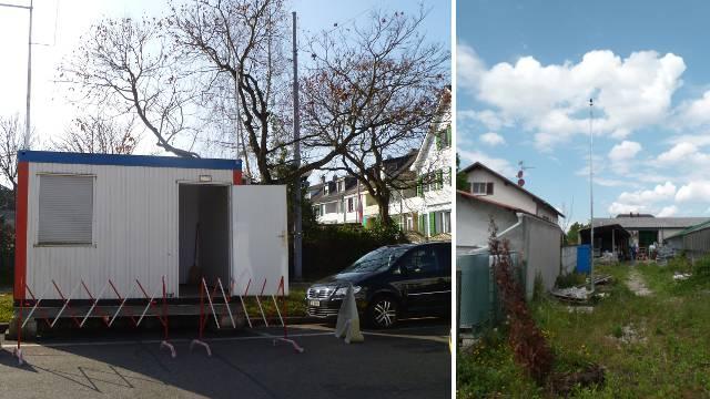 Die alte (links) und die neue (rechts) Messtation.