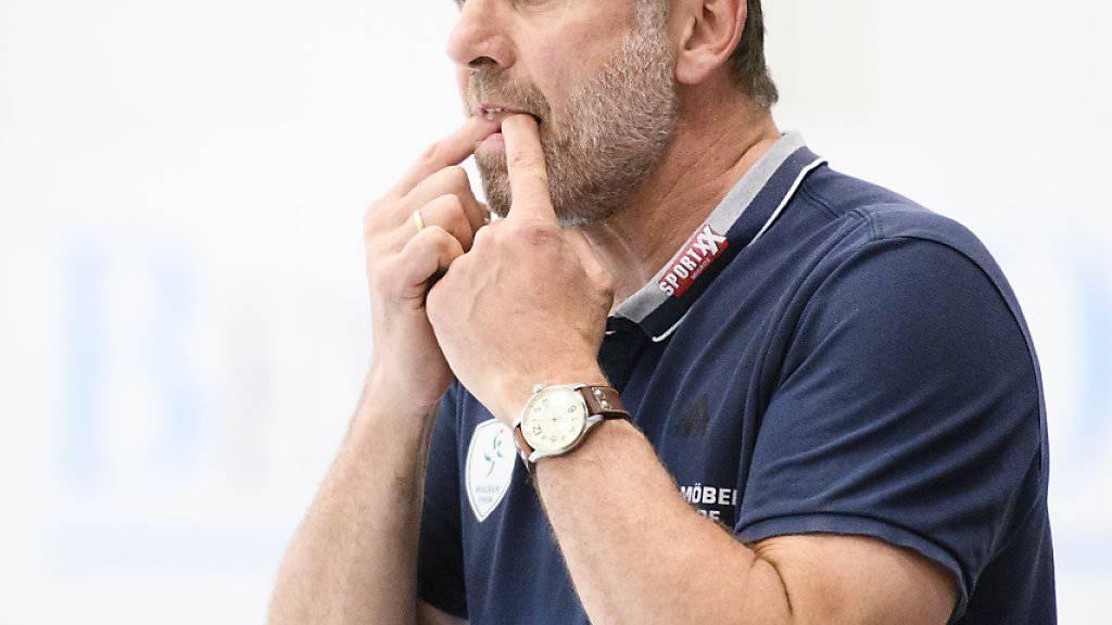 Trainer Martin Rubin spielt mit Wacker um den Titel (Archivbild)