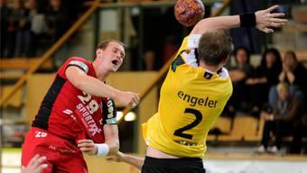 Der Solothurner Misha Kaufmann (links) soll beim NLB-Klub zur Führungsperson werden.Keystone