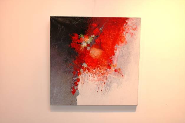 Dynamik: Der Künstler arbeitet mit unterschiedlichen Materialien und Strukturen.