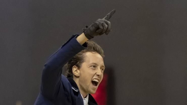 Voller Emotionen: Martin Fuchs freut sich über seinen zweiten Sieg in Basel.