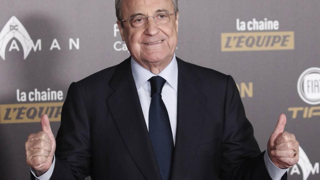 Real Madrids Präsident Florentino Perez bleibt guten Mutes