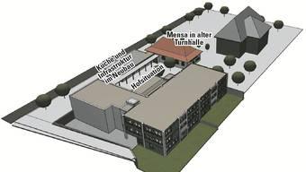 Projektentwurf 2 «Mensa Nord» macht schulexterne Nutzung von Küche und Mensa möglich.